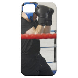 Boxer covering his face in ring iPhone 5 cover