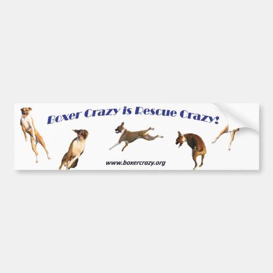 Boxer Crazy Bumpersticker - Air Abby Bumper Sticker