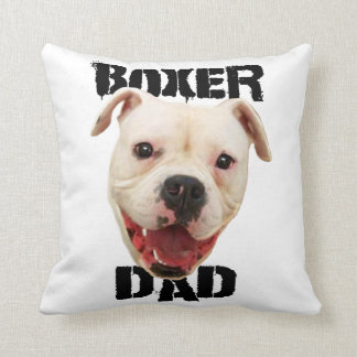 Boxer Dad Dog Throw Pillow