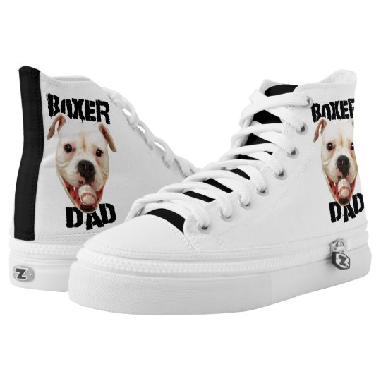 Boxer dad high top tennis shoes