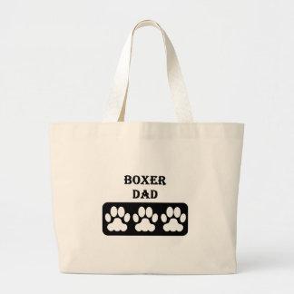 Boxer Dad Large Tote Bag