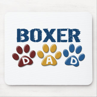 BOXER DAD Paw Print 1 Mouse Pad