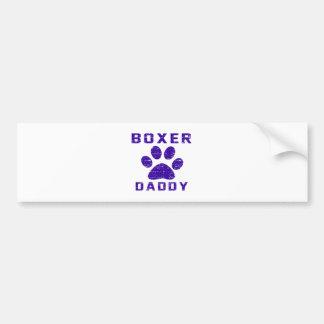 Boxer Daddy Gifts Designs Bumper Sticker
