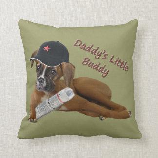 "Boxer ""Daddy's Buddy"" Throw Pillow"