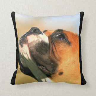 Boxer dog American MoJo  throw pillow