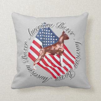 Boxer dog American MoJo  throw pillow
