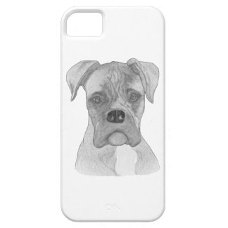 Boxer dog B&W drawing iPhone 5 Case