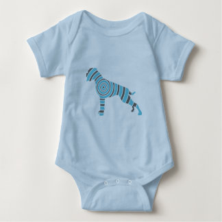 Boxer dog baby bodysuit