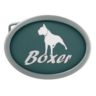Boxer dog belt buckle