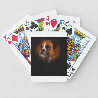 Boxer Dog Bicycle Playing Cards
