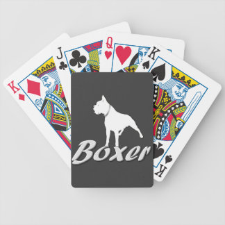 Boxer dog bicycle playing cards