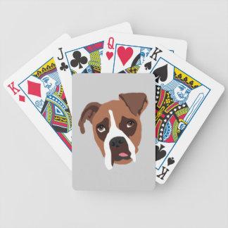 Boxer Dog Bicycle Poker Playing Cards