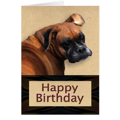 Boxer Dog Birthday Card