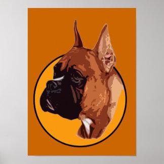 BOXER DOG BREED ORANGE POSTERS