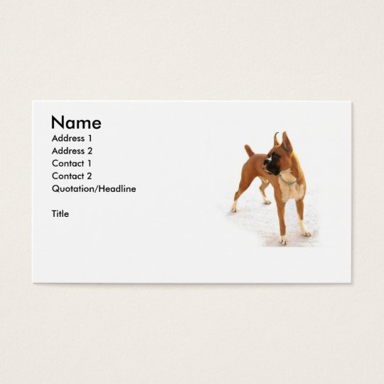 Boxer dog business card