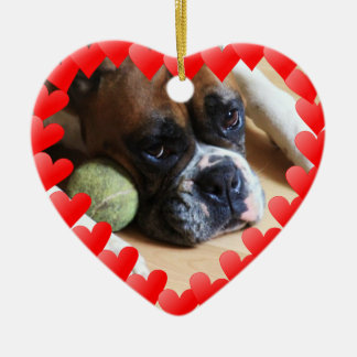 Boxer dog christmas ornament