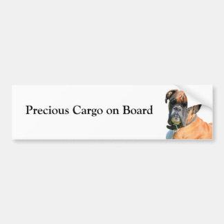Boxer dog custom bumper sticker