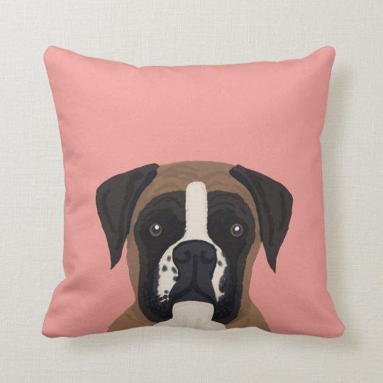 Boxer dog custom pet portrait pillow for dog