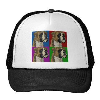 Boxer Dog Dark Primary Collage Mesh Hat
