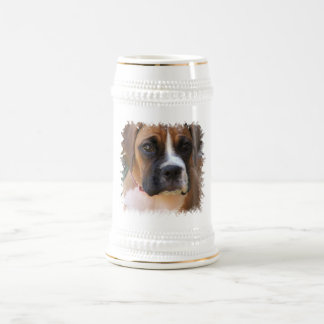 Boxer Dog Design Beer Stein