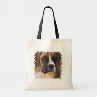 Boxer Dog Design Budget Tote Bag