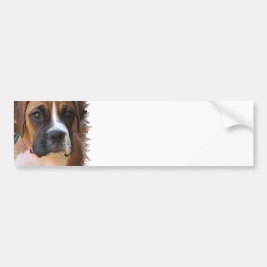 Boxer Dog Design Bumper Sticker  Bumper Sticker