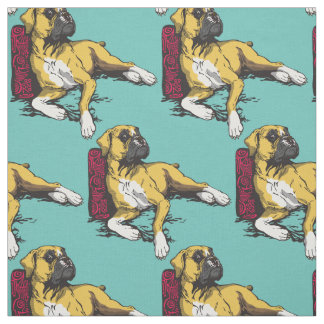 boxer dog fabric