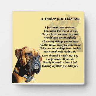 Boxer Dog Father Poem Plaque