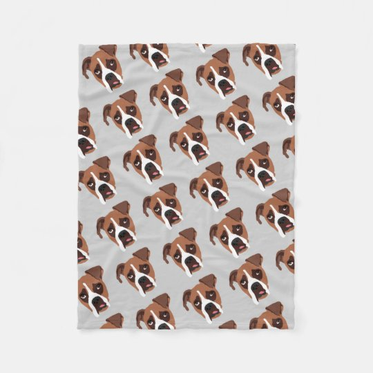Boxer Dog Fleece Blanket, Small