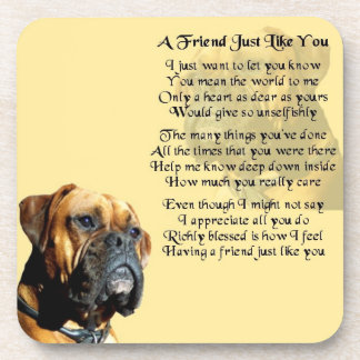 Boxer Dog - Friend Poem Coaster