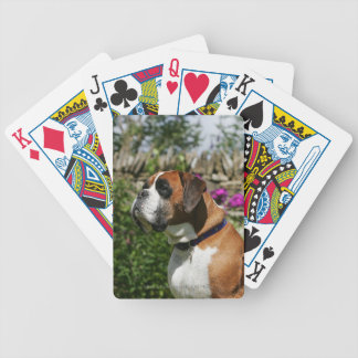 Boxer Dog in the Flowers Bicycle Playing Cards