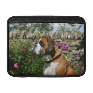 Boxer Dog in the Flowers Sleeve For MacBook Air