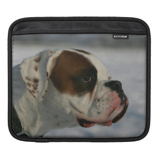 Boxer Dog in the Snow iPad Sleeve