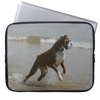 Boxer Dog in Water Computer Sleeve