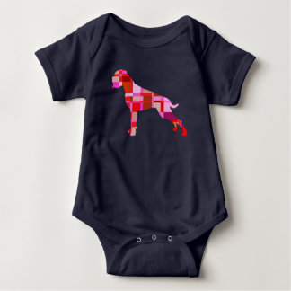 Boxer dog karro baby bodysuit