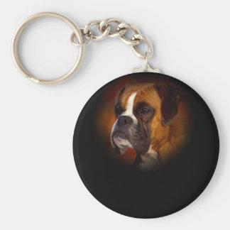Boxer Dog Key Ring