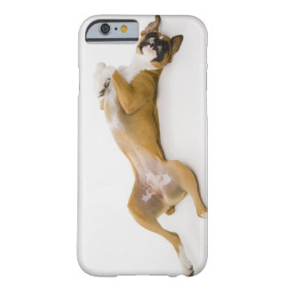 Boxer dog laying on her back on the floor barely there iPhone 6 case