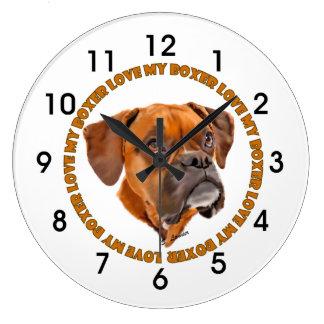 Boxer Dog Love My Boxer Large Clock