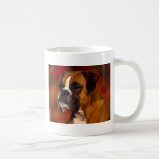 Boxer dog basic white mug