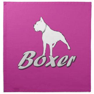 Boxer dog cloth napkin