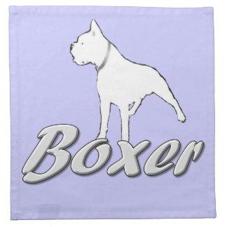 Boxer dog printed napkin