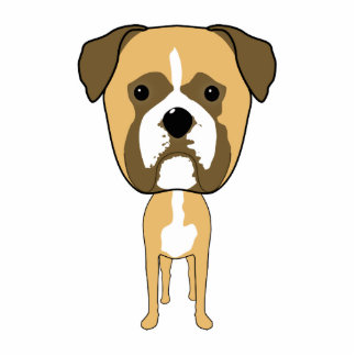 Boxer Dog Oversized head Photo Cut Outs