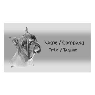 Boxer Dog Pack Of Standard Business Cards