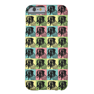 Boxer Dog Pastel Pop Art Style Custom Barely There iPhone 6 Case