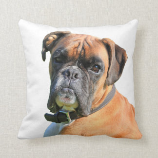 Boxer dog photo portrait cushion pillows