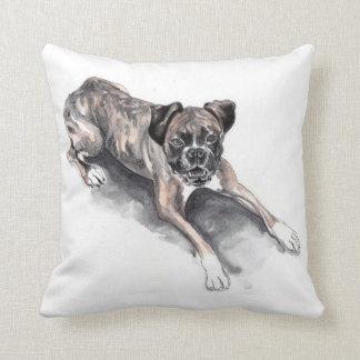 Boxer dog pillow cushion
