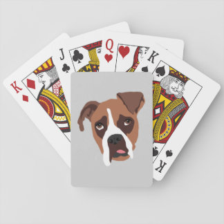 Boxer Dog Playing Cards