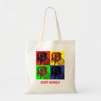 Boxer Dog Pop Art customizable Tote Bag
