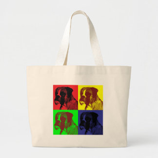 Boxer Dog Pop Art Style Bags