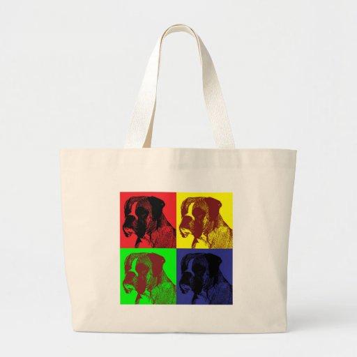 Boxer Dog Pop Art Style Bags